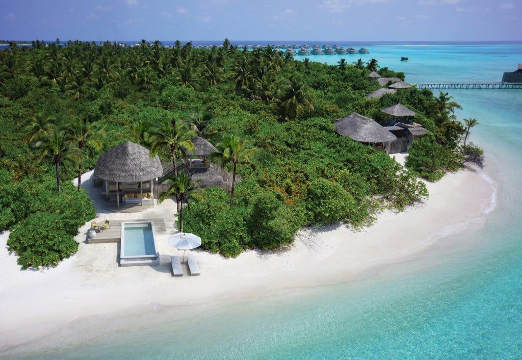 Villa avec piscine à l'hôtel six senses aux Maldives - voyage sur mesure