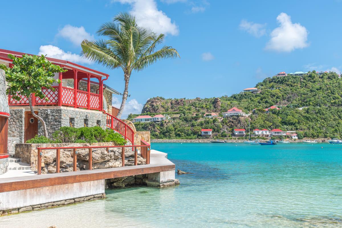 vue de l'hôtel Eden Rock depuis la plage - Saint Barthélemy