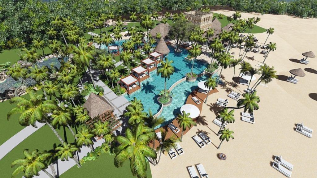 Vue aérienne de l'hôtel Saint Géran