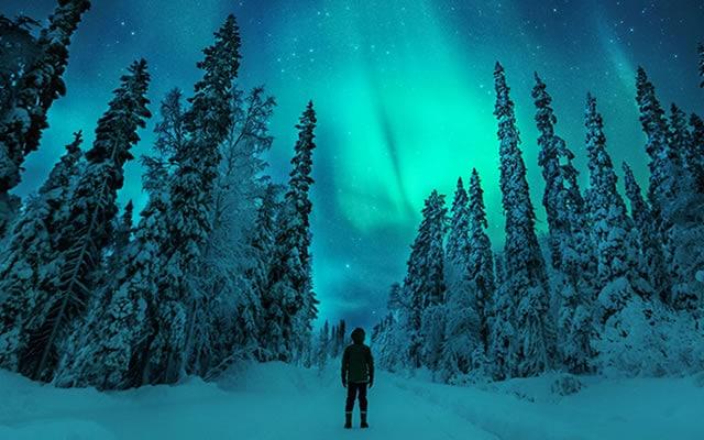 aurores boréales Laponie voyage de luxe