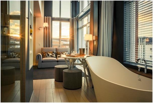 vue d'une chambre hôtel and Spa Le Germain Charlevoix