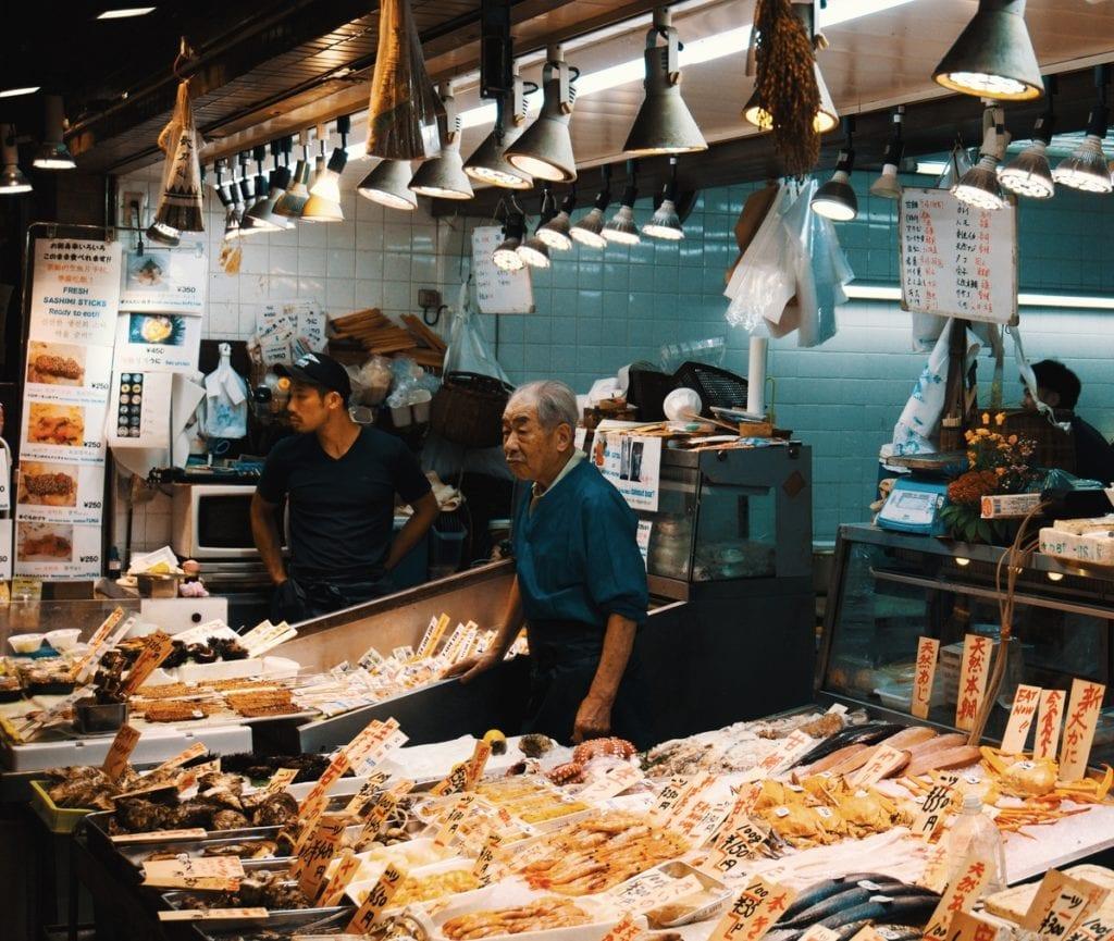 toyosu, marché aux poissons, japon, poissons