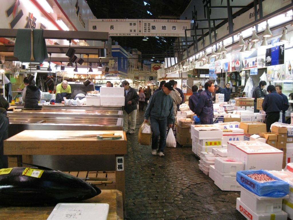 ancien marché tsukiji, japon