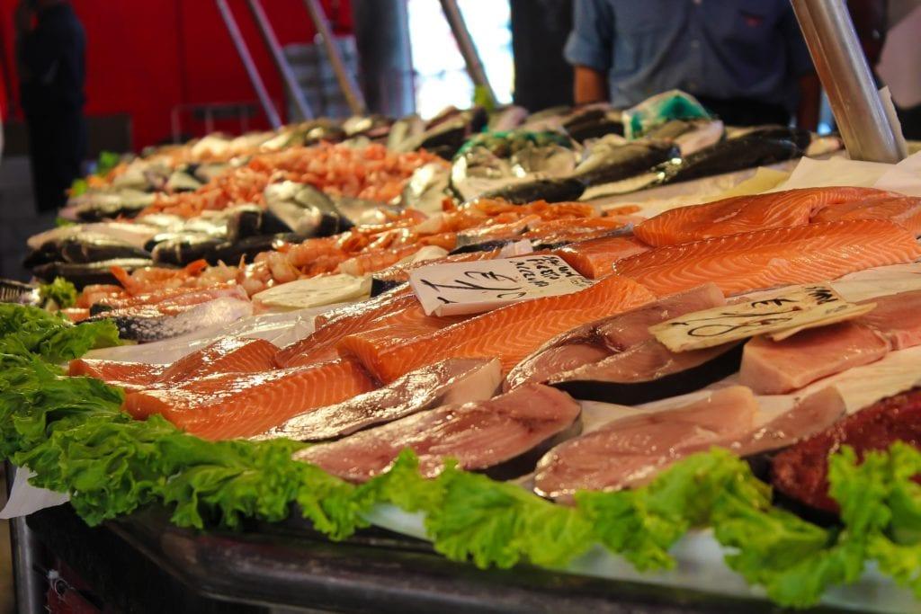 japon, marché, poissons