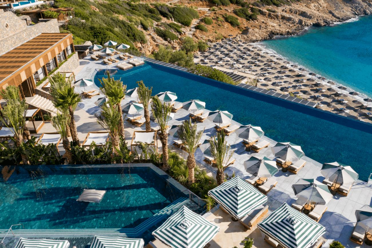 sejour en Crete - hotel Luxe Daios Cove vue drone