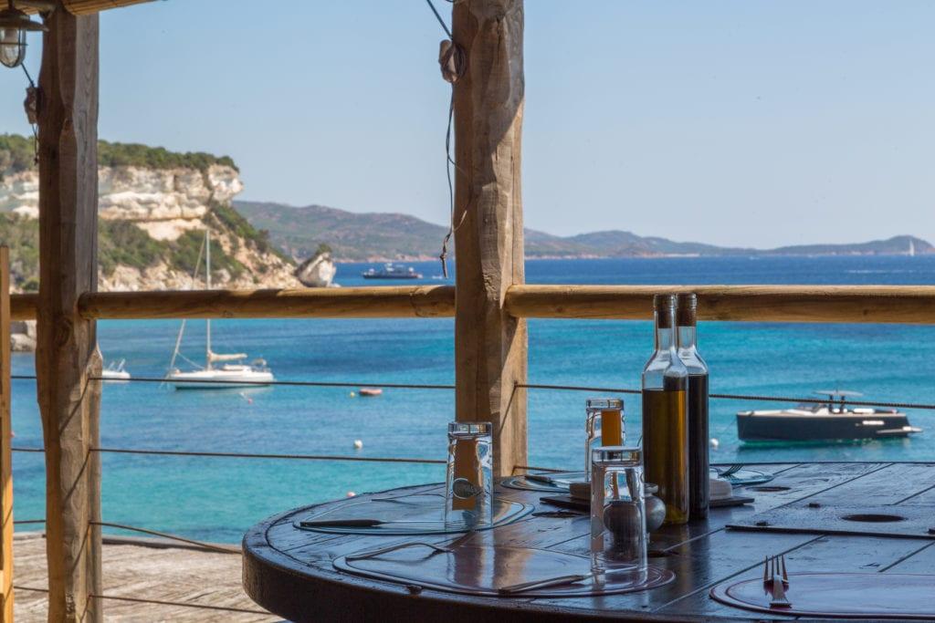 restaurant plage bonifacio