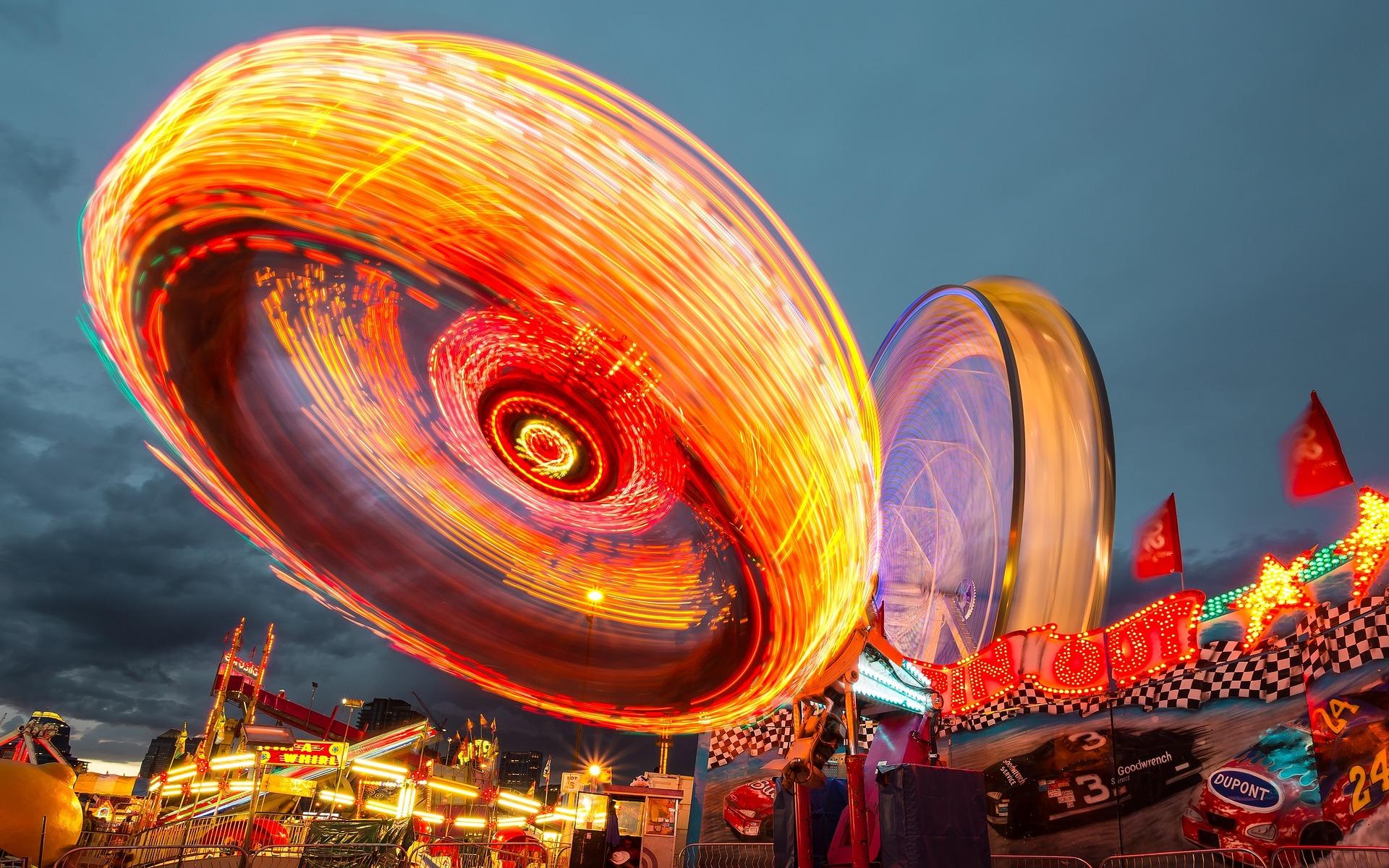 attraction soir, parc d'attraction