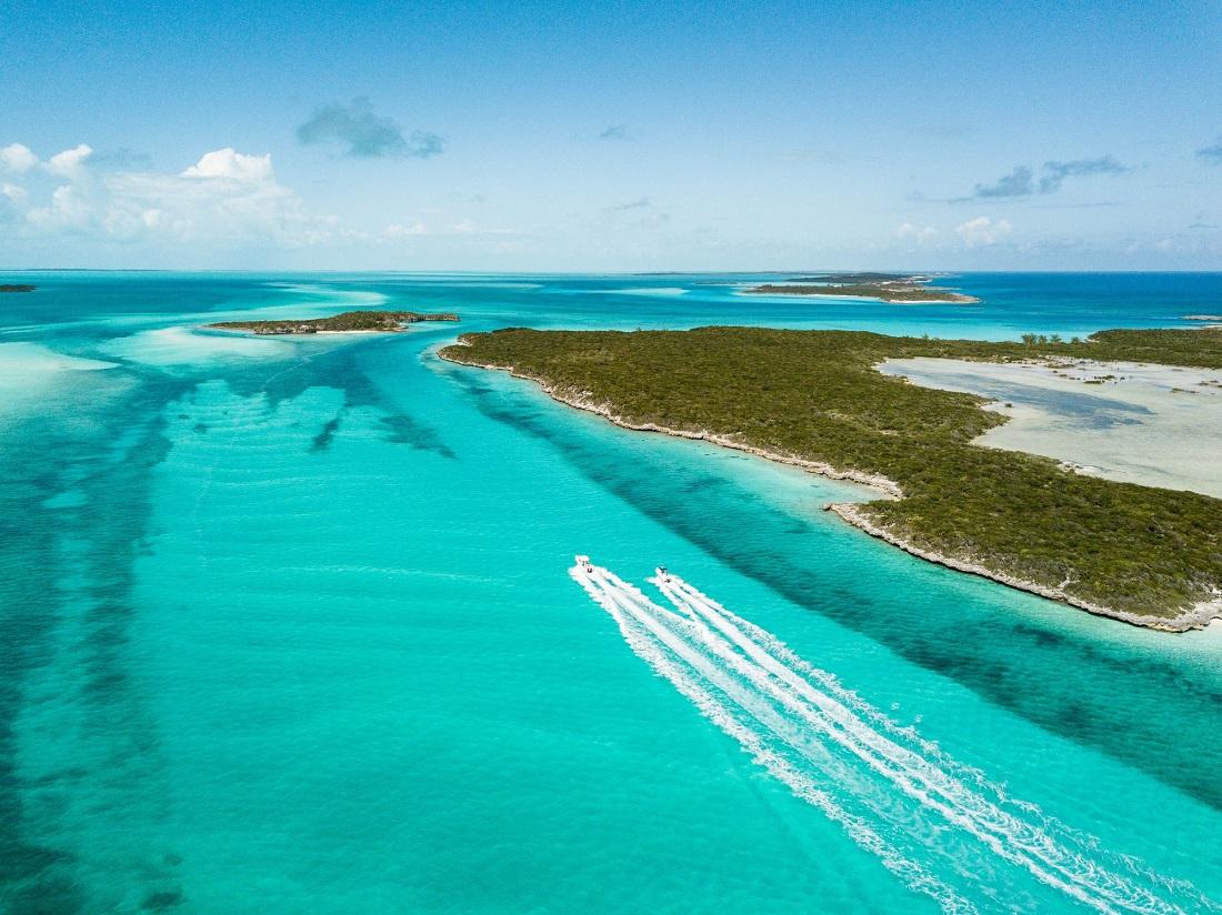 Combiné d'îles aux Bahamas