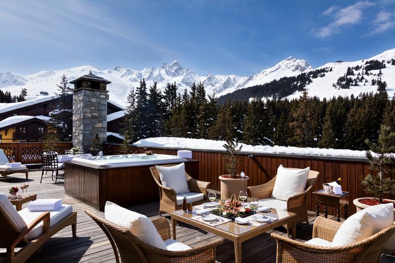montagnes Les Airelles Courchevel -séjour luxe France
