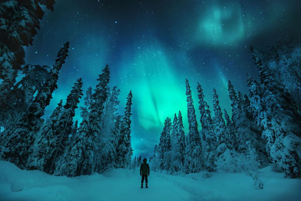 Aurores boréales Laponie - voyage luxe Finlande