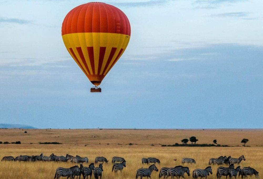 safari en montgolfière en Tanzanie