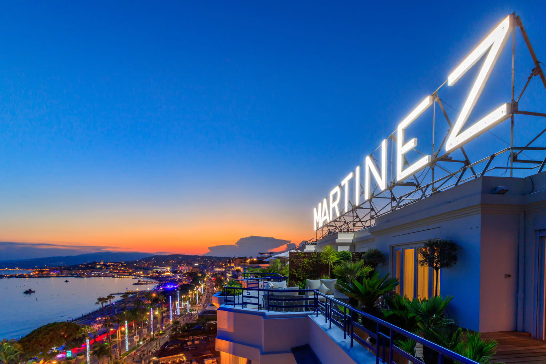 HOTEL MARTINEZ CANNES - suite penthouse terrasse vue mer