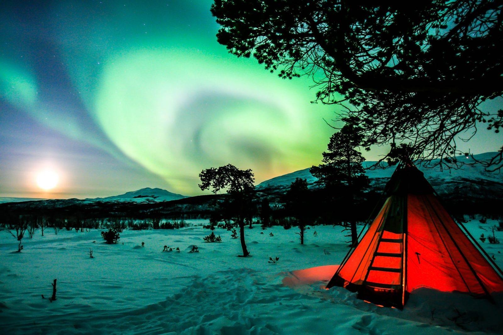 tente aurore boreale suede