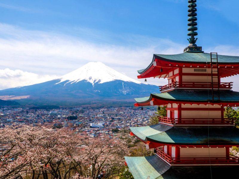 Mount Fuji in Japan - traveling trip